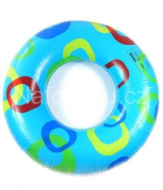 Modrý nafukovací kruh do vody s kruhy