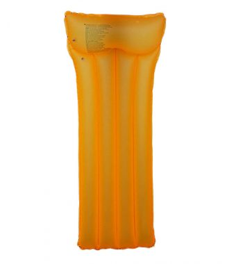 Oranžové nafukovací lehátko na vodu