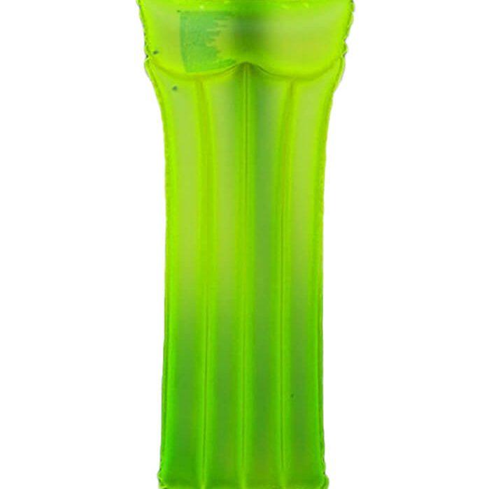 Zelené nafukovací lehátko na vodu