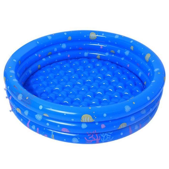 Modrý dětský bazén s potiskem 150 cm